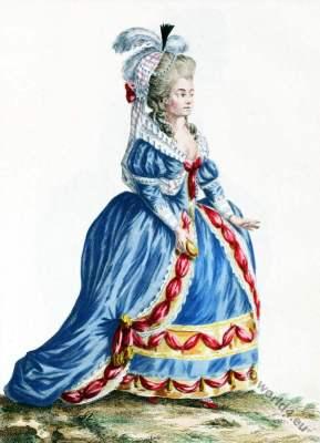 Estramadure. Costume Espagnol. rococo fashion, farthingale