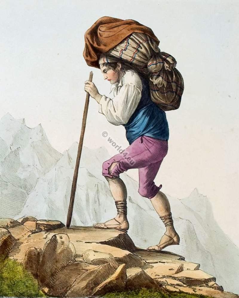 contrebandier,venasquais,Oô,france,traditional,traditionnel,costume,pyrenees,costumes des pyrénnées,folk,dresses,Édouard pingret