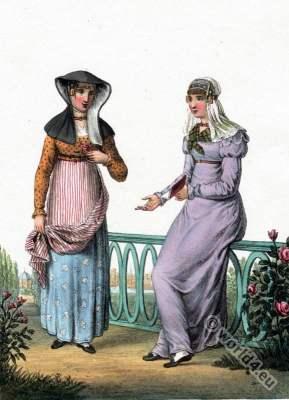 Traditional Dutch costumes, Alkmaarsche, Zaandam,