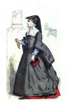 Bourgeoise de Paris. Histoire de la mode Renaissance. 16ème siècle costume.