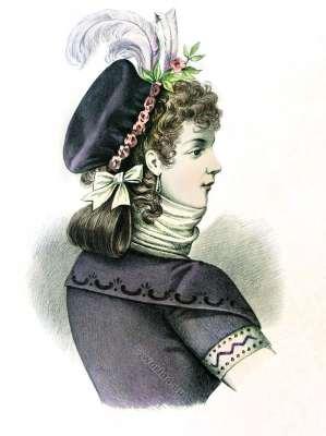 Coiffure Galante. Mode du 18ème siècle. Dirctoire. Merveilleus.