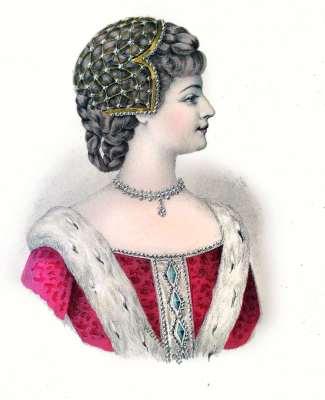 Coiffure, Moyen Age, fashion