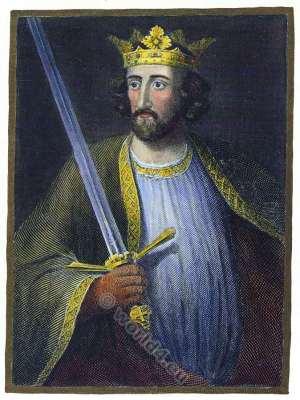 Edward I. Longshanks. Hammer of the Scots. Malleus Scotorum. King of England. 13th century clothing. Medieval costumes.