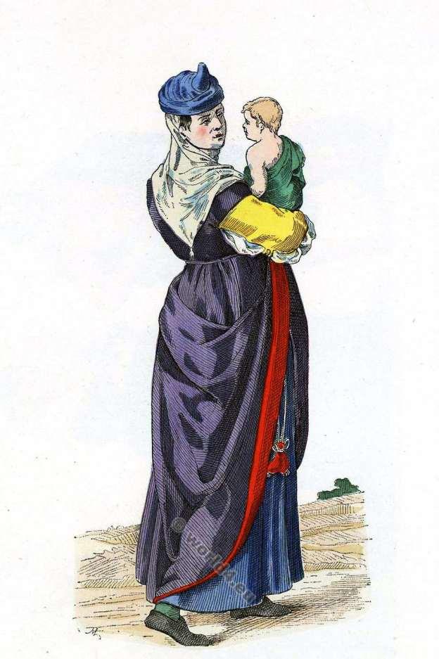 Femme, Bayonne, 16ème, siècle, costume, Histoire, mode, renaissance,