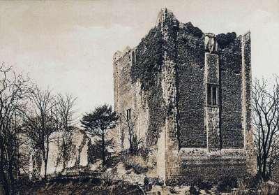 Guilford Castle. dower castles. England medieval architecture. Middle ages. Eleonora of Castile. Edward I.