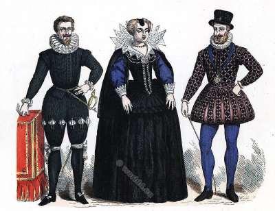 Fashion portraits Renaissance fashion history. 16th century costumes.