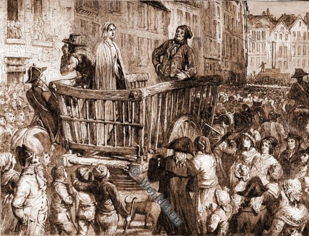 Charlotte Corday, execution, french revolution,