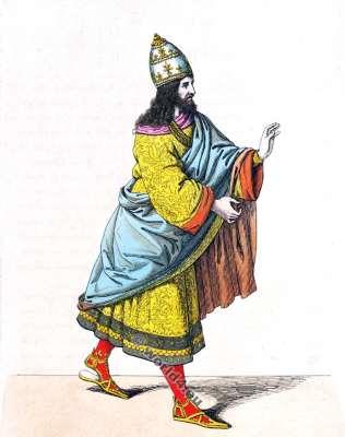 Frédéric III. Empereur d'Allemagne. 15ème siècle. histoire de la mode Renaissance. Moyen Age costumes.