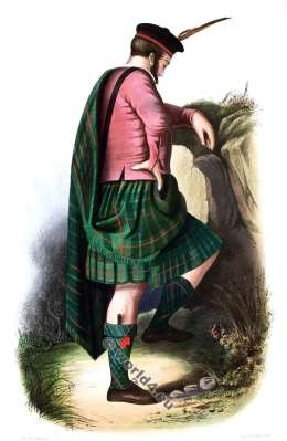 Clan Nan Guinnaich or Gunns. Tartan. Scotland. Clans of the Scottish Highlands.