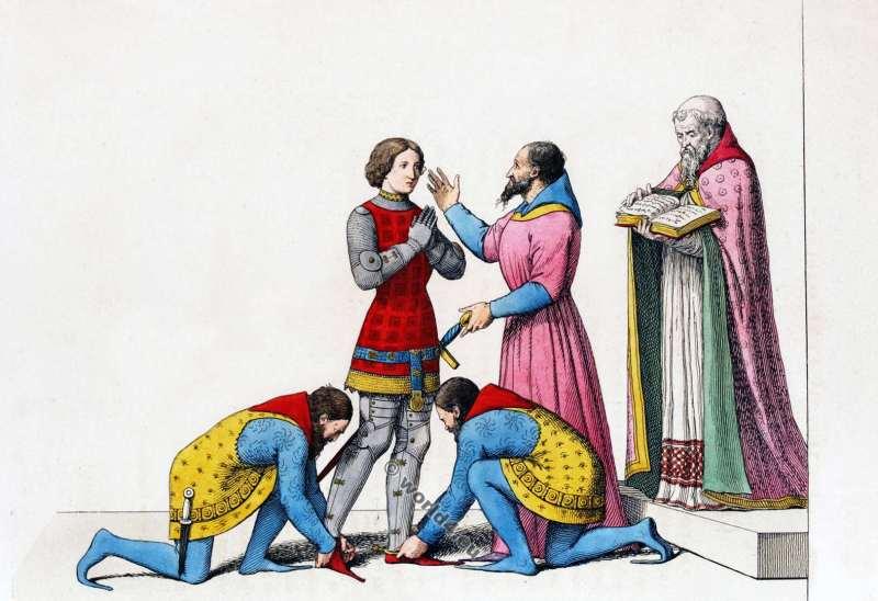 Chevalier, 15ème siècle, Moyen âges, militaire, costume, médiéval, histoire, mode, bourguignonne,