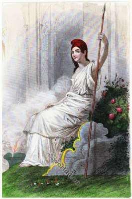 Timeline French Revolution. Déesse de la Raison et de l'Être suprême. Révolution Française. Directoire costume.