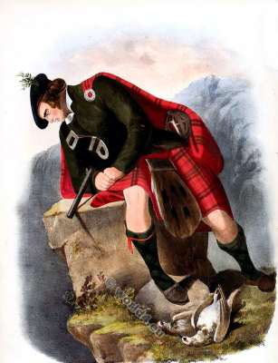 Ross - Clan Rosich, Na Gille Andras. Clan. Tartan. Scotland national costume. Clans of the Scottish Highlands.