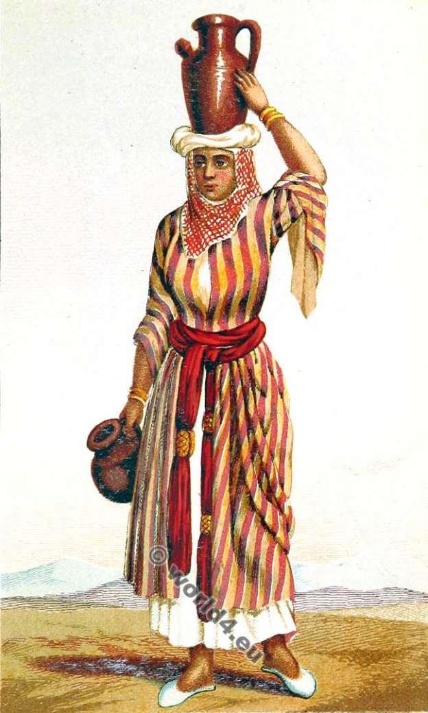 Nazareth costume. Israel. Jewish clothing. Palestine.