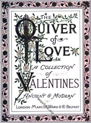 The Quiver of Love. Valentines. Walter Crane. Kate Greenaway. Costumes.