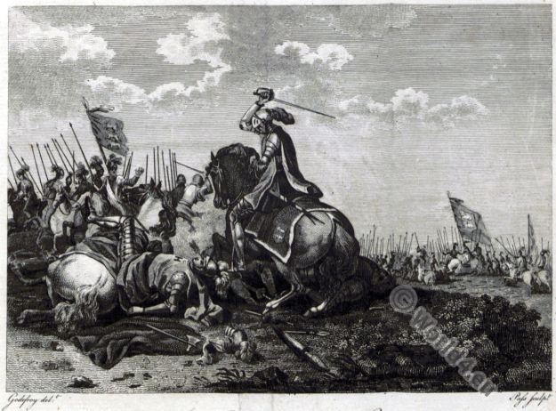 The Battle of Hastings. William the Conqueror. King Harald II. Knights