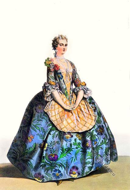 Nobility. Rococo Costume. louis XV. 18th century fashion