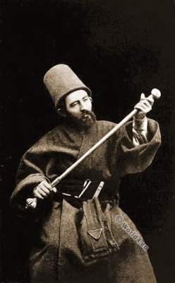 Howling Dervishes. Muslim ascetic orders. Ecstatic Dances. Rifāʿīyah. Ṣūfīs. Sufismus.Dervishes