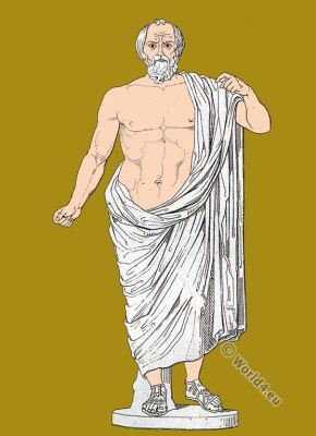 Lycurgus Sparta. Licurgo. Roman empire. Ancient costume. Roman sculpture.