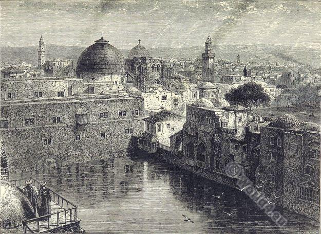 Hezekiah's Pool. Pool of Pillars. Pool of the Patriarch's Bath. בריכת חזקיהו, Brikhat Hizkiyahu. Biblical place. Jerusalem.