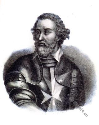Fra 'Jean de la Valette, Jean Parisot de La Valette. Grand Master. Military Order