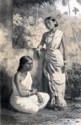 Tamils. Kerala. Girls. Malabar. India. costumes.