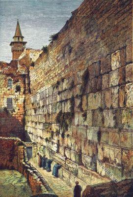 Wailing Place. Kotel. Jews, Jerusalem. Western Wall. Biblical place. Israel. Sacred Destinations.