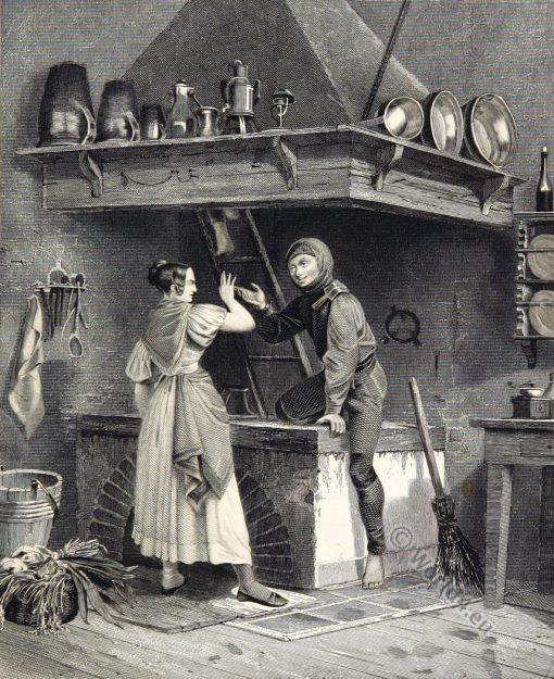 Ghimney sweep costume. Germany 19th century.