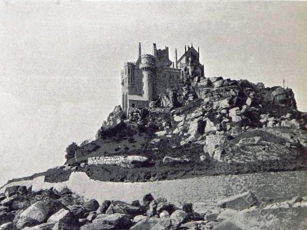 St Michael's Mount. England. Castle. Cornwall