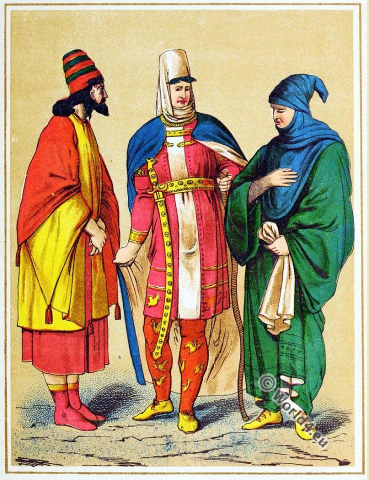 Persian King. Darius. Costumes. Ancient