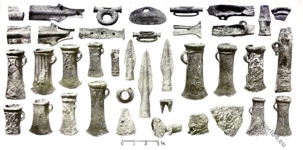 The Ebbsfleet I Hoard, Socketed axes, spear-heads, swords,belt, Bronze Age,British Antiquities, Celtic