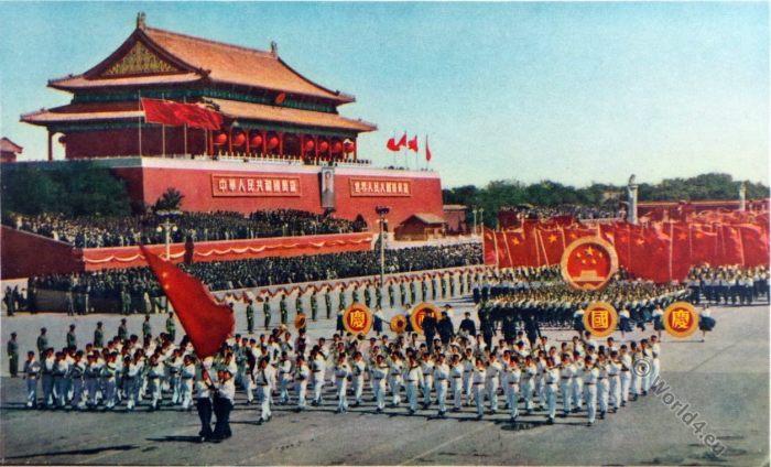 Chinese National Day, Mao Tse-tung, Chinese propaganda, Tien An Men Square, Pecking