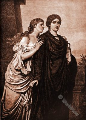 Antigone, Ismene, Greek, Mythology,
