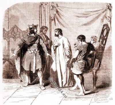 Dagobert I. Éloi, Merovingian King, Middle ages, costumes, history