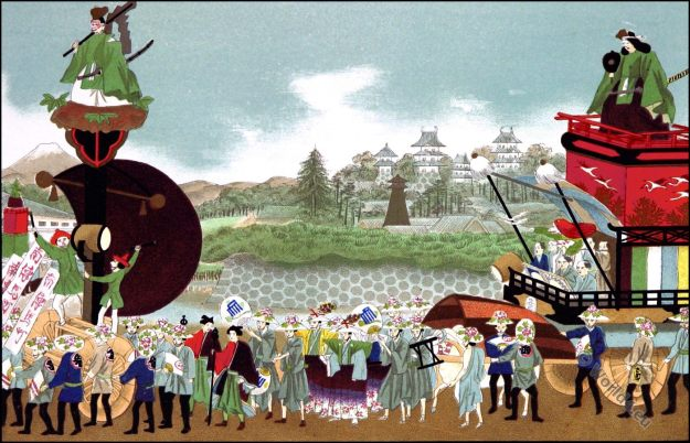 Japanese Festivals, Customs, merchant, festival, costumes, 19th century, Odawara Omatsuri, Shinto