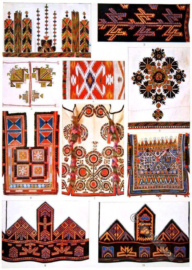 Macedonia, embroidery, clothing, patterns, Kelim