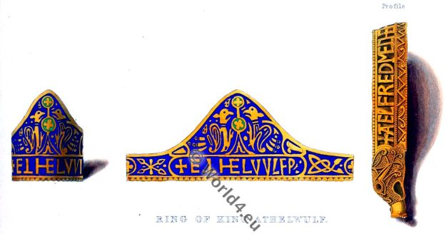 King Athelwulf, Wessex, middle ages, jewelry, anglo-saxon,
