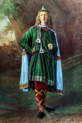 Saxon, Anglo-Saxon, costume, history, England