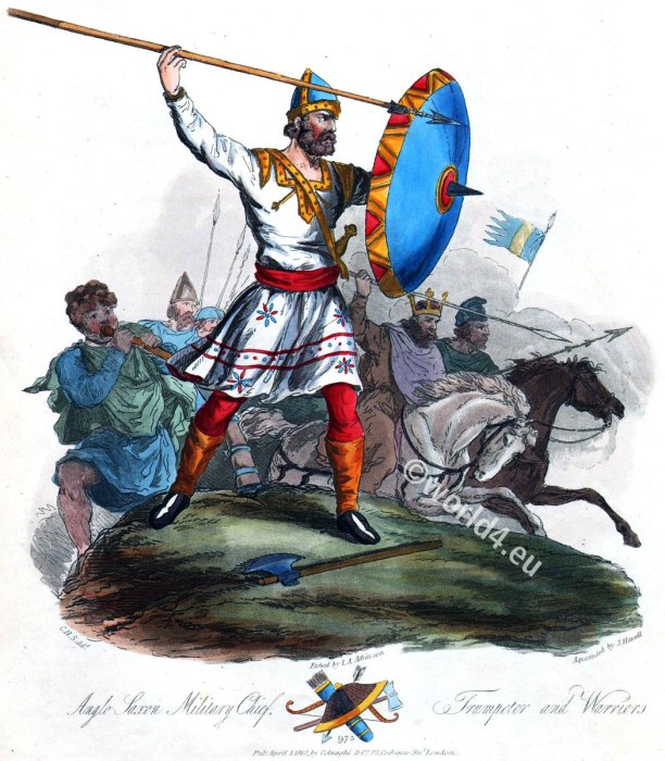 Anglo Saxon chief, military, 10th century, warrior, costumes, fashion, armour