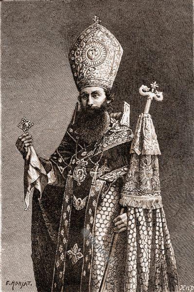 Armenian bishop, Djulfa, costume, Azerbaidjan