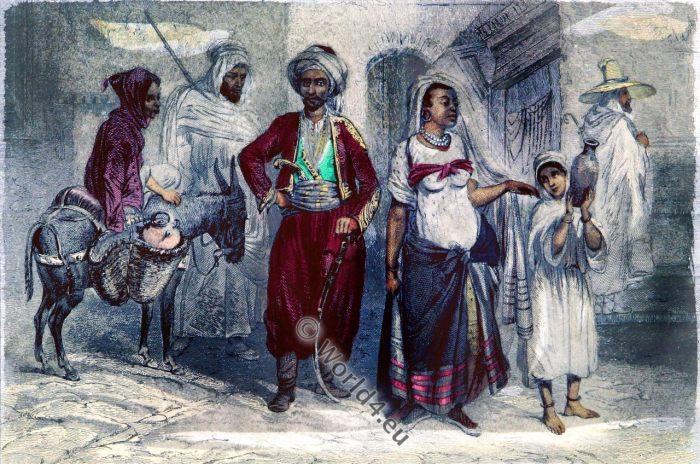 Berber costumes, Tuareg, Morocco, Maroc, dress, Marruecos, Trajes, traditional, MM. Rouargue frères