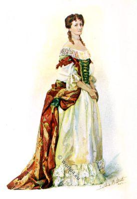 James II, England, Baroque, costume, fashion history, historical, dress, 17th century,