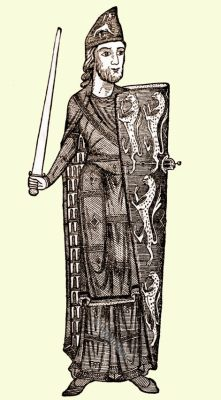 Geoffrey Planagenet, Count of Anjou. Medieval manuscript, England, medieval fashion, 12th century costumes