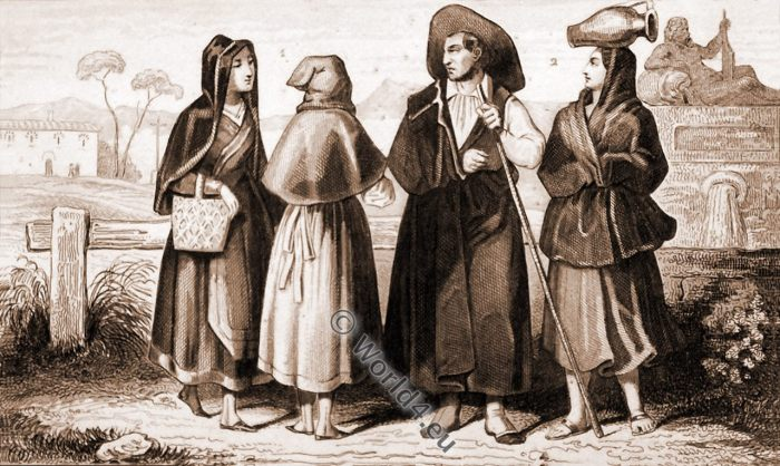 Madrid, Spain, Servants, Costume, Peasants,