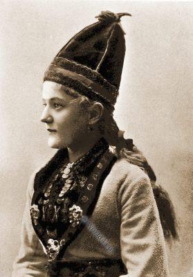Lofoten Islands, Fischer girl costume, Norway