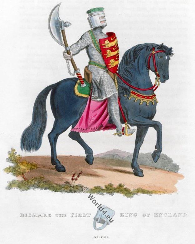 King Richard I. King of England. 12th century, Middle ages knight, armor