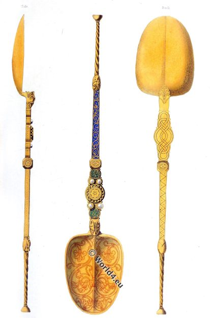 English monarchs, Coronation, spoon, 12th century, Antiquity, England, King, Queen, History, Middle ages