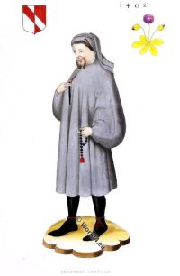 Geoffrey Chaucer, Middle ages, 14th century, Canterbury Tales, Henry Shaw, costume, poet, England, English literature