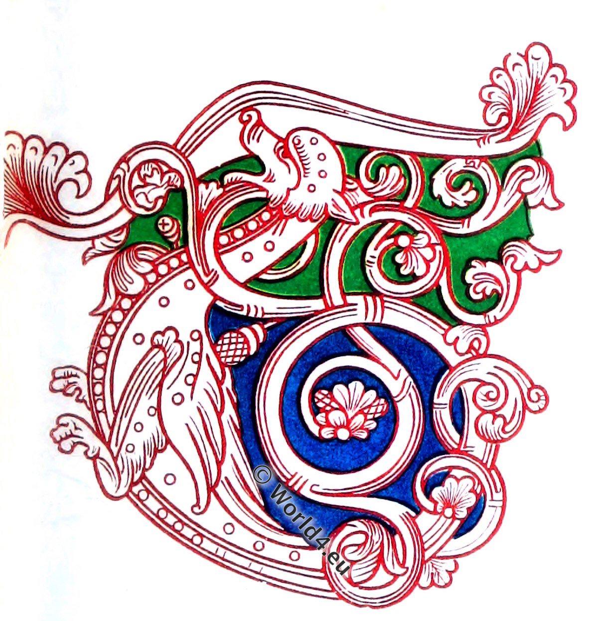 12th century, illuminated manuscript, Bible, middle ages,