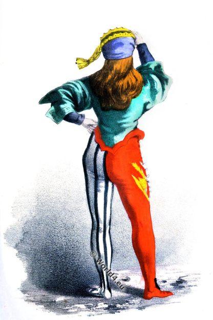 Venetian, Society, Calza, Middle Ages, Renaissance, era, fashion, costume, History, Italy, Venetia, 14th century,