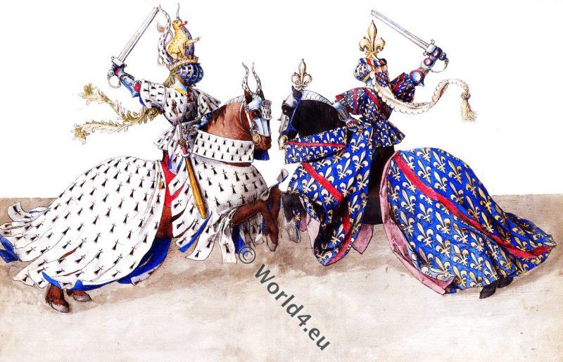 Duke, Bourbon, Brittany, Duel, tournament, 15th century, knighthood, knights, armor